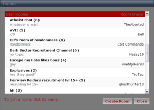 """""""User Rooms"""""""