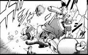 Shiro smashes the Aceman action figure