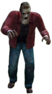 Dead rising zombie red long sleeved shirt and jeans