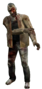 Dead rising zombie brown sweater one eye