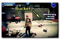 Case west bucket ocation for drill bucket