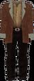 Dead rising Brown Jacket with Fur Trim Tan Shirt and Black Pants