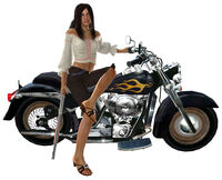 Isabela Keyes on Motorcycle