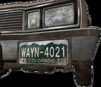 Dead rising WAYN-4021 license plate colorado april 1992