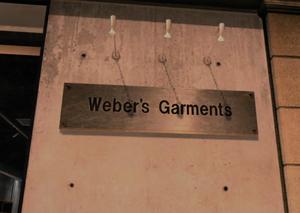 Weber's Garments Sign