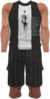 Dead rising Black and White Sleeveless Sports Top with Black and Grey Shorts