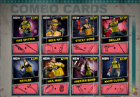 Dead rising Combo Card sheet of 8 (2)