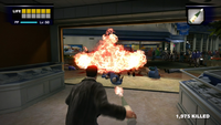 Dead rising Molotov Cocktail thrown