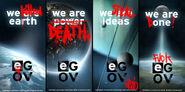 EarthGov vandilized posters