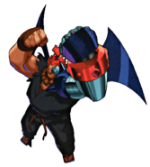 Street Fighter - Akuma as he appears in his Cyber Form from Marvel Super Heroes vs Street Fighter
