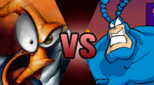 Earthworm Jim vs The Tick