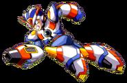 Mega Man X - Mega Man X dashing with his Third Armor