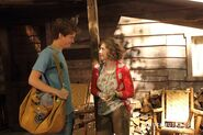 Clare & Jake Talking The Morning After With Jake Grinning & Clare Smiling Slightly