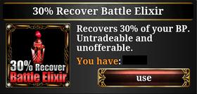 30% Recover Battle Elixir