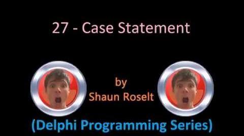 Delphi Programming Series 27 - Case Statement
