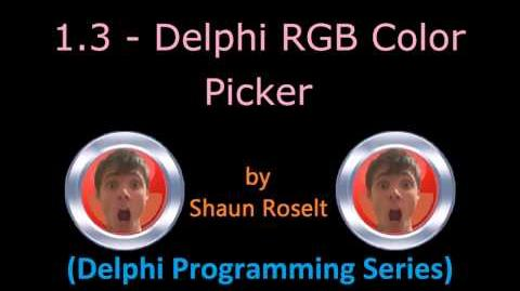 Delphi Programming Series 1.3 - Delphi RGB Color Picker