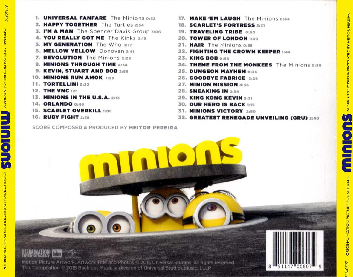 Minions Film Soundtrack Despicable Me Wiki Fandom