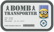 Dave the Bomb transporter