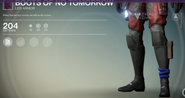 Boots of No Tomorrow