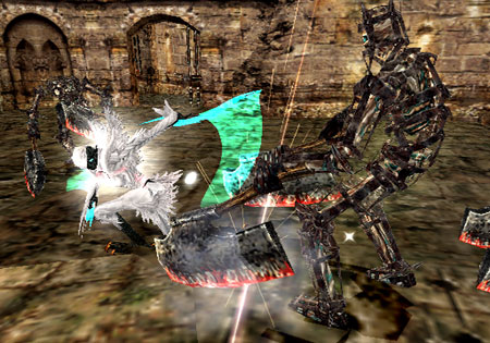 File:DMC2 - Lucia battles Agonofinis.png