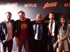 Wikianer in Paris Daredevil Screening Cast.JPG