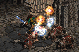 a phase blade wielding sorceress using Zeal to blind and deal lightning damage to enemies