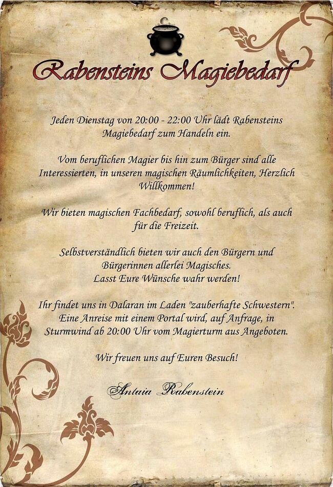 Rabensteins Magiebedarf EinladungsschreibenI.jpg