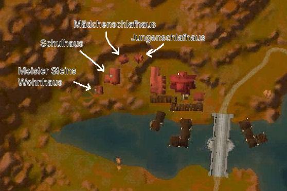Lage der Gebäude in Seenhain