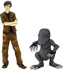 Allen and BlackAgumon