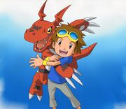 Takato Matsuki and Guilmon t