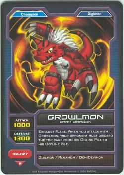 Growlmon DM-027 (DC)