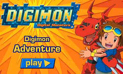 Digimon Adventure (Flash game) Start Screen