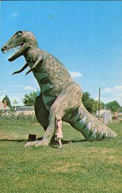 T Rex, Dinosaurland at the DineAville Motel, Vernal, Utah