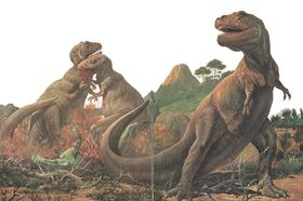 3 T-rex e una carcassa
