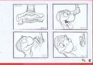 The Land Before Time 1988 Production Storyboard Copy Page 6 DON BLUTH -SH006
