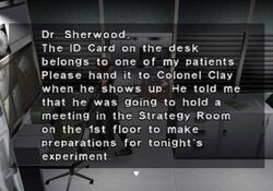 Memo to the Doctor on duty (2)