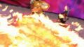 Torvosaurus using Magma Blaster on Chomp and Ace