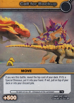 Call for Backup TCG Card 1-Silver