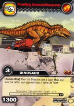 Acrocanthosaurus-Drift(er-ing) TCG Card (German)