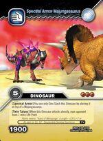 Majungasaurus armor TCG card