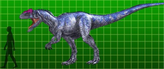 full-sized Allosaurus