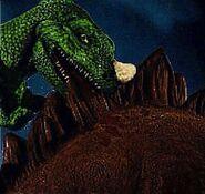 Ceratosaurus attacking the Stegosaurus