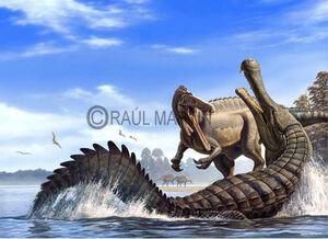 Sarcosuchus Vs spinosaur