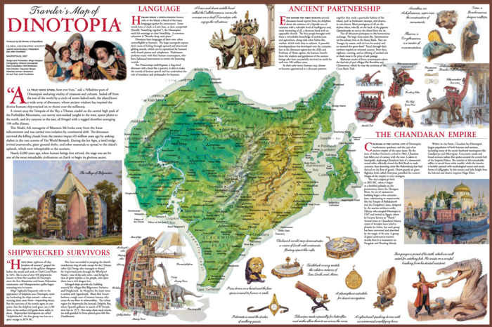Traveler's map of Dinotopia