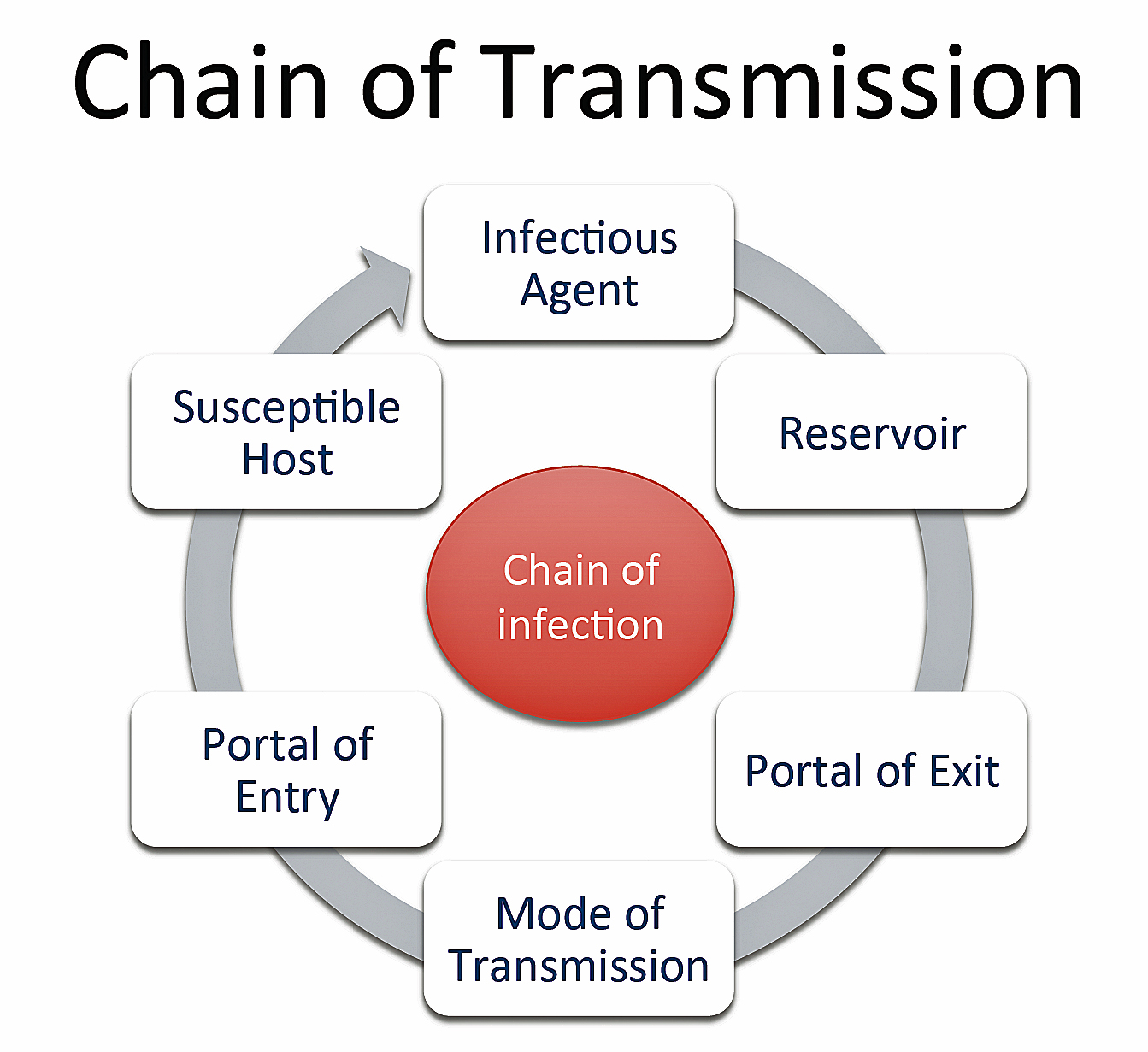 What is a communicable disease chain