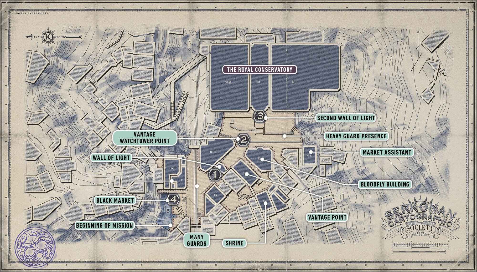 Image Cyria Gardens Map Jpg Dishonored Wiki Fandom