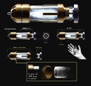 Concept art explosive bullet