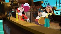 Captain Hook with Sharky and Bones