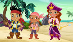 The Pirate Princess with Jake and his crew