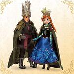 Anna and Kristoff designer dolls